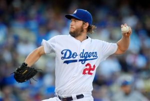 Los Angeles Dodgers starting pitcher Clayton Kershaw throws to the plate during the second inning of a baseball game against the New York Mets, Friday, July 3, 2015, in Los Angeles. (AP Photo/Mark J. Terrill)